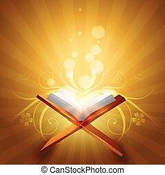 quraan vector - religious book of quraan vector illustration