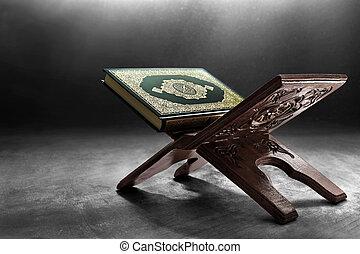 quran, książka, święty, muslims