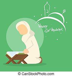 quran, lecture femme, musulman