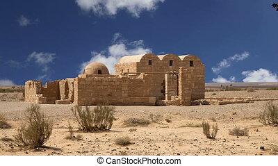 Quseir Amra desert castle.Jordan