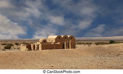 Amra desert castle near Amman - Quseir (Qasr) Amra desert...