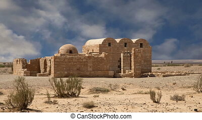 Quseir (Qasr) Amra desert castle near Amman, Jordan. World heritage with famous fresco's.