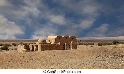 Quseir (Qasr) Amra desert castle near Amman, Jordan. World...