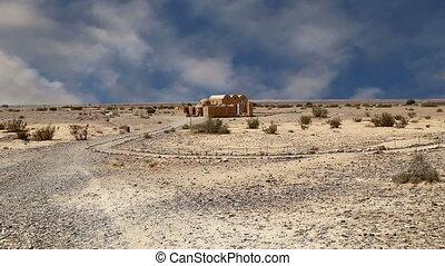Quseir (Qasr) Amra, Jordan - Quseir (Qasr) Amra desert...