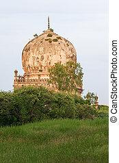 qutb, shahi, 墓, 中に, hyderabad, インド