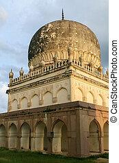 qutb, shahi, túmulos, em, hyderabad, índia