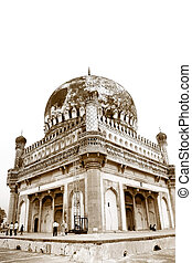 Historic Quli Qutb shahi tombs in 400 year old Hyderabad India