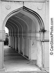 qutbshahi, túmulo, arcos