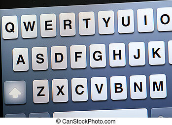 Qwerty keyboard on tablet