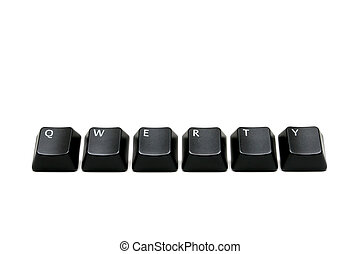 qwerty - single keys from keyboard, macro over white