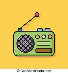 rádio, ícone