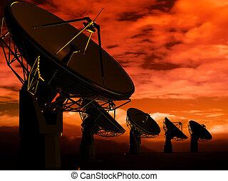 rádio, antena