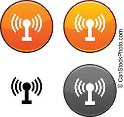 rádio, button.
