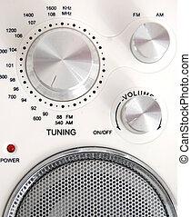 rádio, sistema, loudspea, acústico