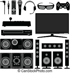 rádio, televisão, eletrônico, lar