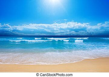 ráj, pláž