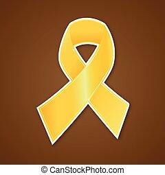 rák, ve, arany, jelkép, mell, szalag