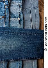 rána, kolmice, barvitý, kalhoty