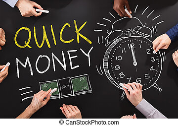 rápido, dinero, concepto