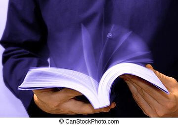 rápido, lectura, concepto