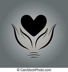 räcker, hjärta, 3