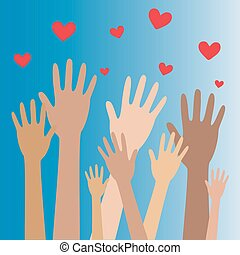 räcker, hjärta, 8, donator, begrepp, donation