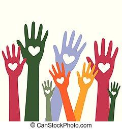 räcker, hjärta, concept1, donator, donation