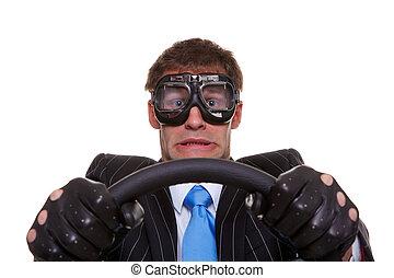 rädd, chaufför