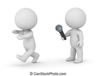 räddt, publik, tecken, tala, 3