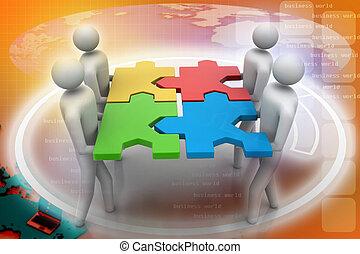 Rätsel, Mannschaft,  -,  3D, Leute