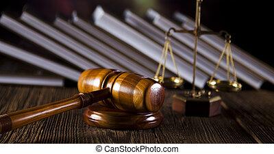 rättvisa, begrepp, kodex, laglig, lag