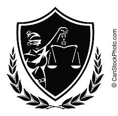 rättvisa, dam, underteckna