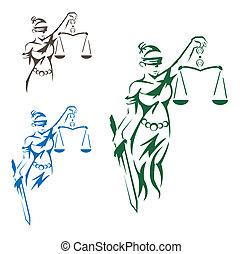 rättvisa, dam