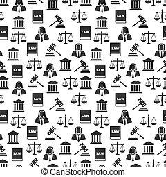 rättvisa, mönster, lag, seamless