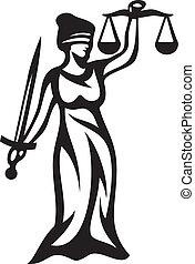 rättvisa, staty