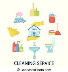 räumlichkeiten, vorräte, putzen