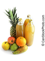 rå frukt, juice
