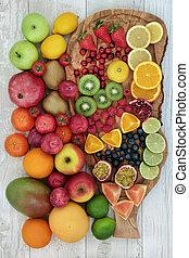 rå frukt, kollektion