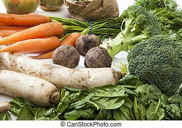 rå, grönsaken, ombyte