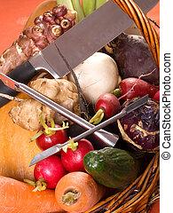 rå, grönsaken