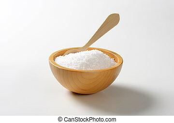 rå, grained, salt