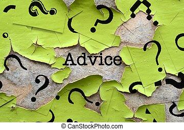 råd, och, ifrågasätter, märken