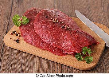 råkall kött, nötkött