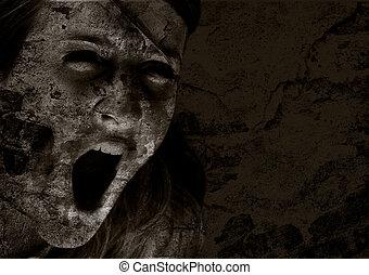 rædsel, skrig