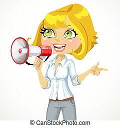 ræk retning, pige, vigige, hende, show, tales, cute, noget, ...