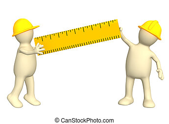 règle, constructeurs, 3d