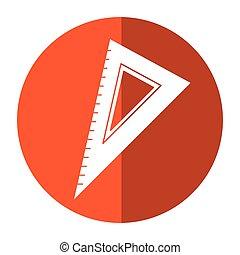 règle, ombre, triangle, ustensile