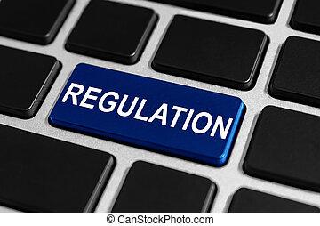 règlement, bouton, clavier
