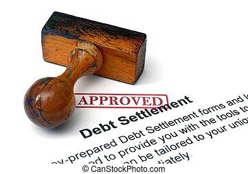 règlement, dette