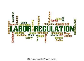 règlement, main-d'œuvre